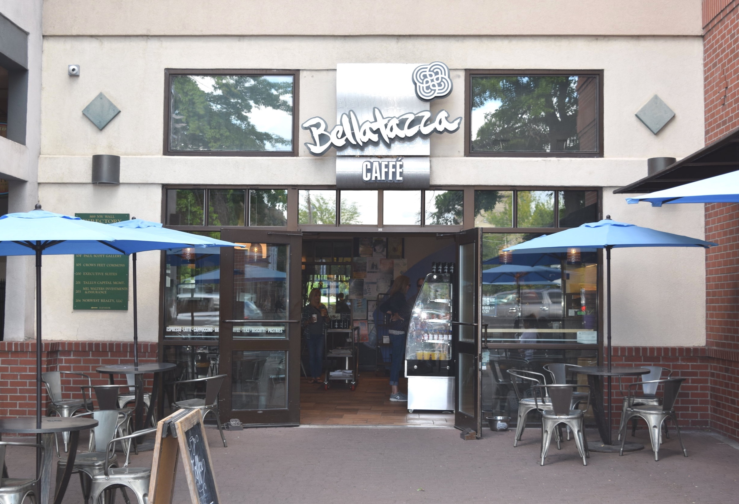 Bellatazza - NW Wall St., Bend, OROfficial BYOC Bend Supporting Business since May 2019BYOC for a $0.25 discountBellatazza is located in downtown Bend and has been committed to fostering relationships between their employees, local bakeries, customers and the community for over 20 years. Bring in your own cup and try a cup of coffee grown from one of Bellatazza's patterning plantations in Guatemala.
