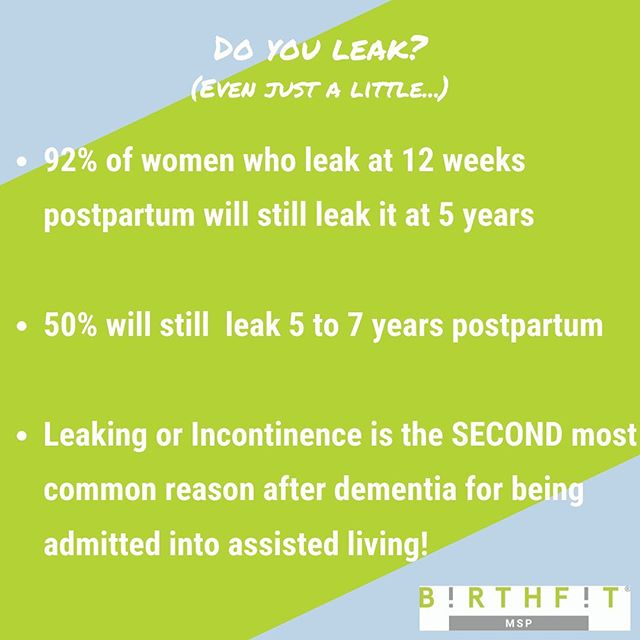 🙋🏻♀️ if you leak when you cough, sneeze, laugh, feel fatigued, feel stressed, run, jump, or just because.  Don't be shy! . . . Research shows that 92%, YES 92%, of women who are leaking at 12 weeks postpartum will will still be leaking at 5 years postpartum! (Research from Diane Lee, Physiotherapist) . . . This is a problem, folks.  And while it's common, it's not normal.  And it most likely won't won't just go away on its own especially if you don't make any changes.  It will take time for self care, multiple visits with a trained pelvic floor physical therapist, and intentional breathing and movement. . . . Your next chance to begin your healing journey begins THIS COMING SUNDAY.  Breathe and move intentionally with pelvic floor physical therapists from @motionminnesota on site at each class. . . . Questions?  DM us.