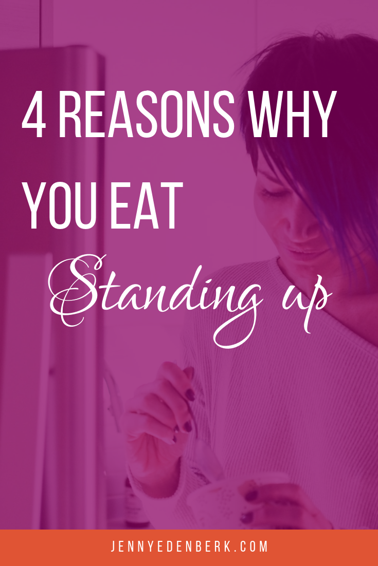 Eating while standing