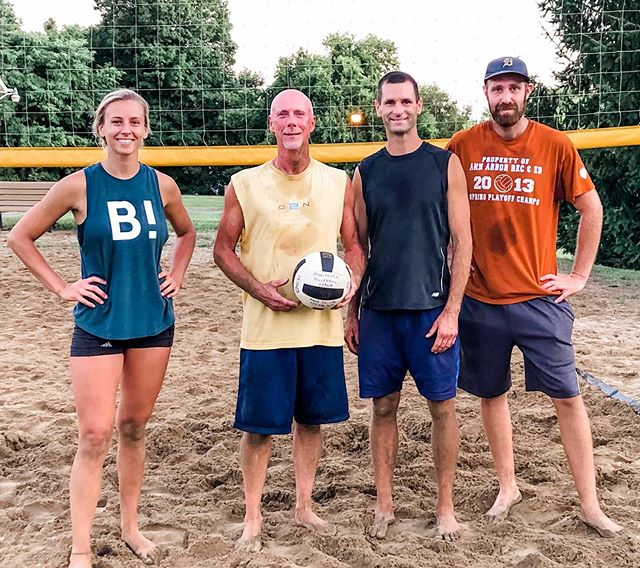 Repping my B! shirt while we took first in our summer sand volleyball league! 4 years strong with my team and 2 sand wins.