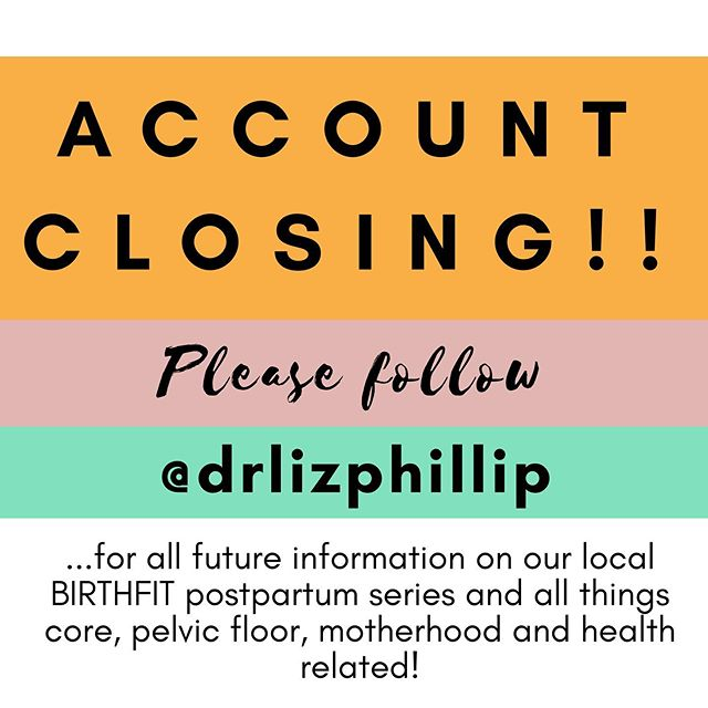 ⭐️ PLEASE NOTE, BIRTHFIT POSTPARTUM SERIES WILL STILL BE HELD IN CHELSEA, MI! ⭐️ As I adapt to some exciting new changes, please continue to follow me @drlizphillip to keep up with our BIRTHFIT postpartum classes, all things core + pelvic floor, motherhood and health.  This account will eventually close, but will be archived for a few months as I transition ☺️ THANK YOU!
