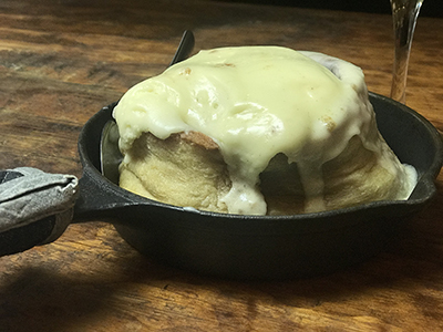 Homemade Skillet Cinnamon Roll