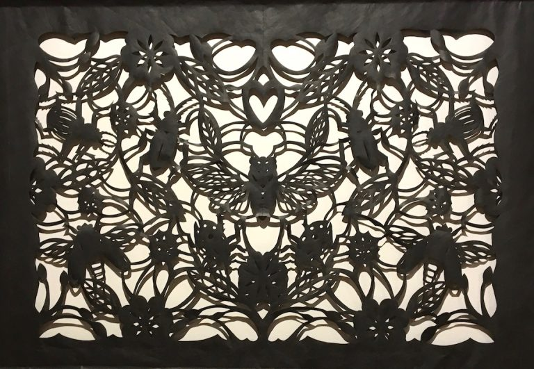 "Phil Ponce takes papel picado techniques to the max with his gorgeous ""Insectos."""