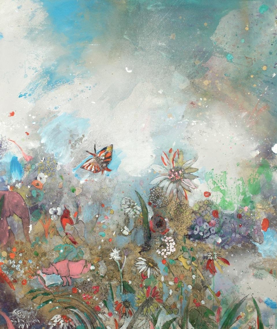Expectation,  47 x 39, Mixed media on canvas