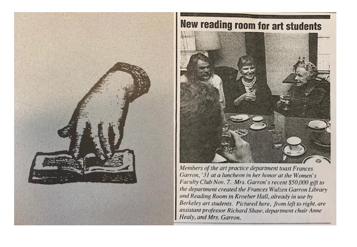 Garron Reading Room newspaper clipping