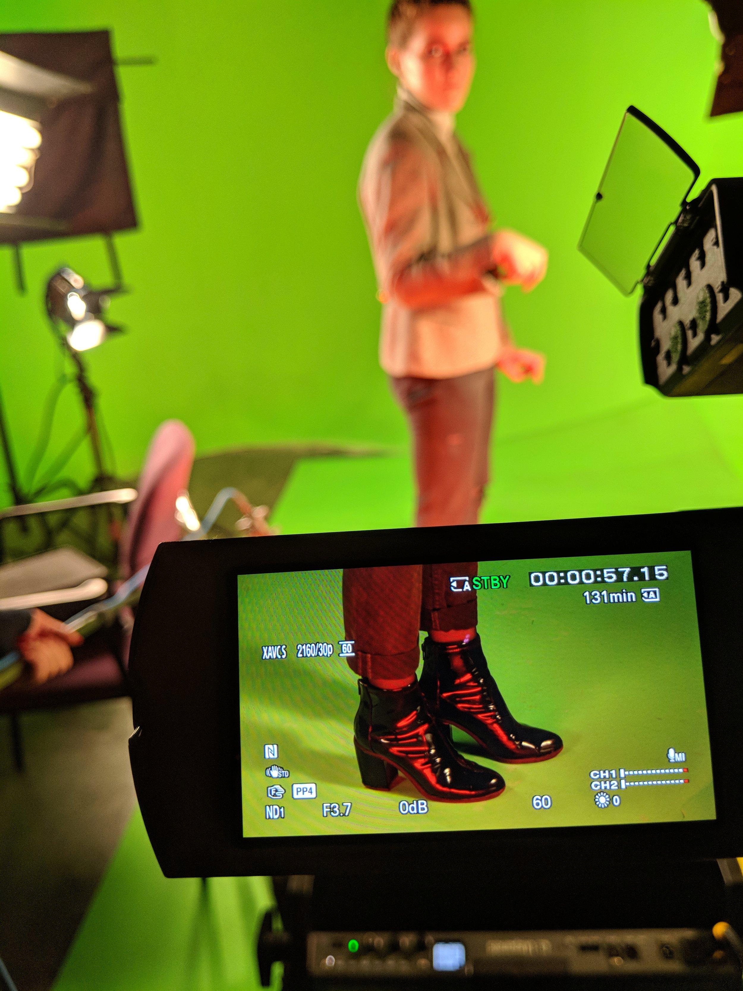 Green screen in the DML Video Studio