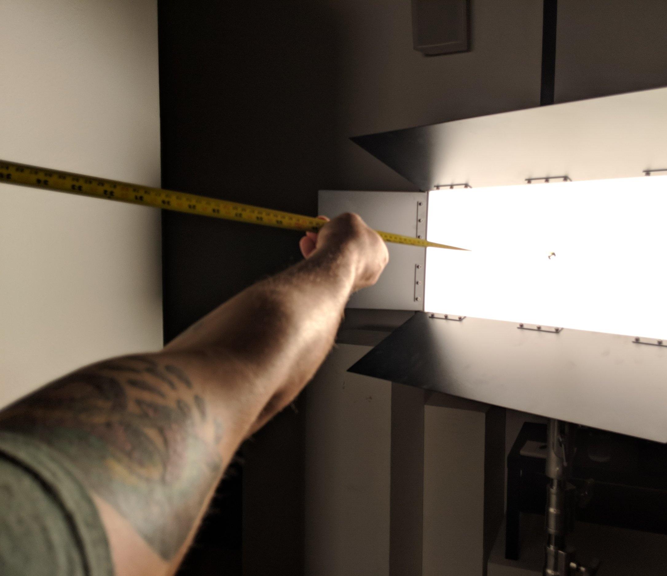 Robert Borsdorf [B.A. 2019] measuring light.