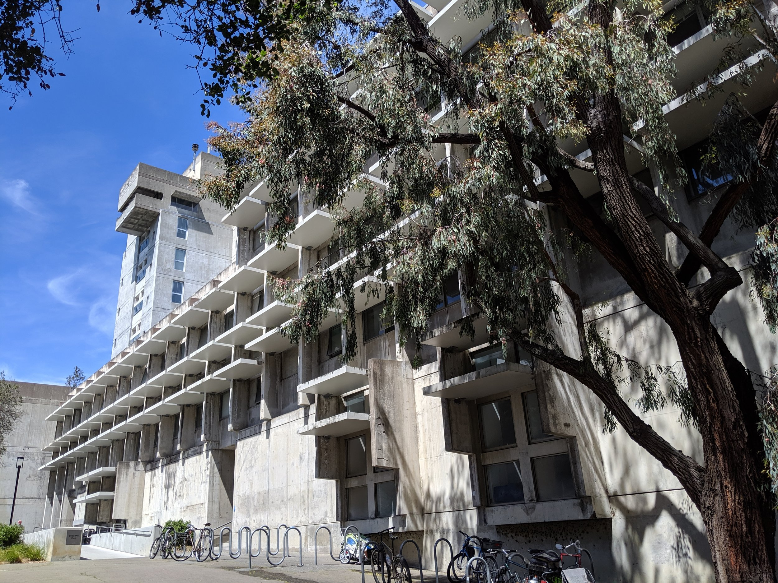 Wurster Hall in all its Brutalist glory. Ceramics, Honors and the Platform are on the Ground Floor.
