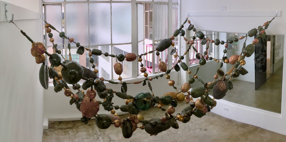 Cathy Lu,  Untitled (Fruits) , 2019. Ceramic installation.
