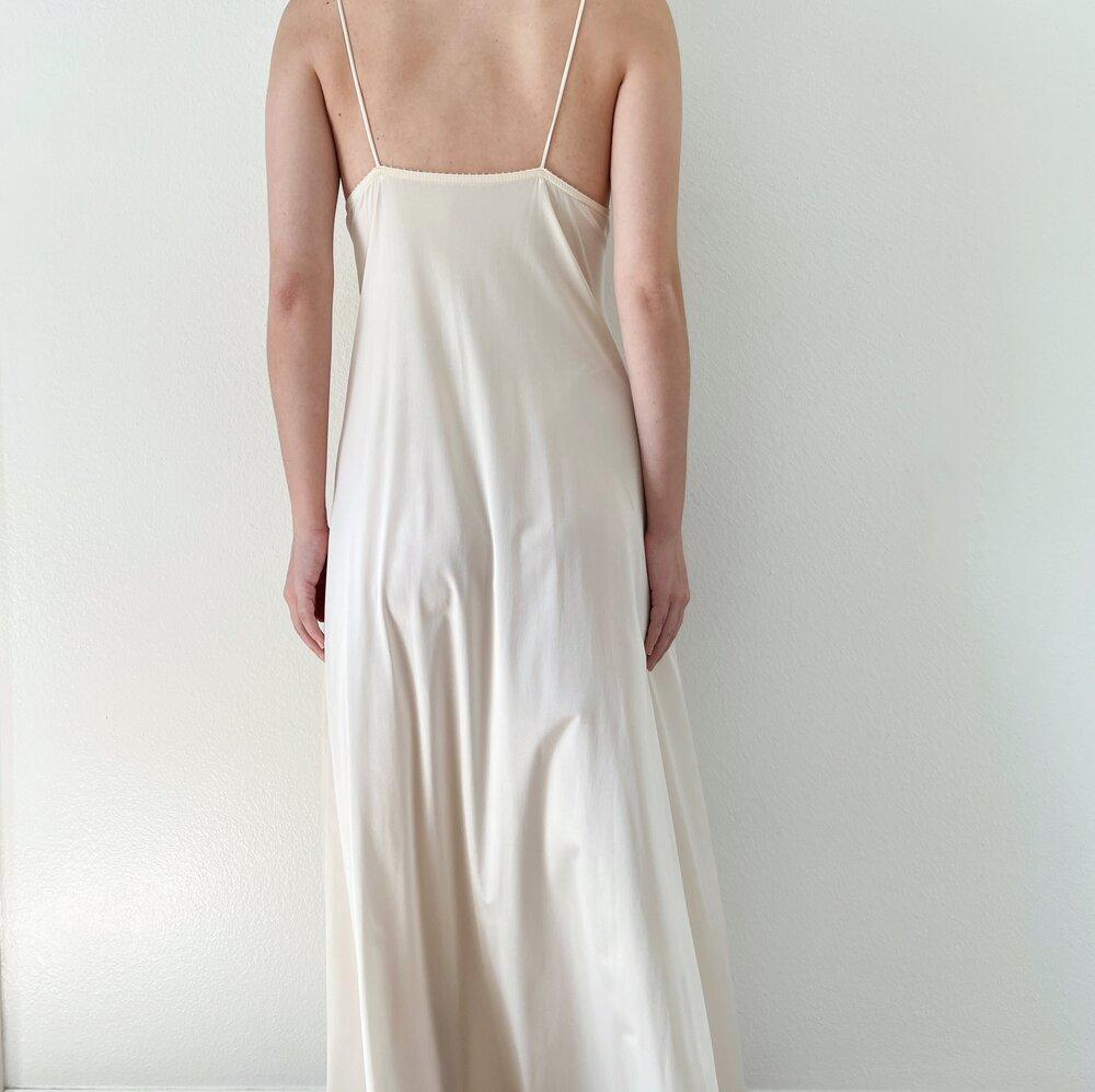 Vintage 1950s Dark Ecru Slip Dress SM