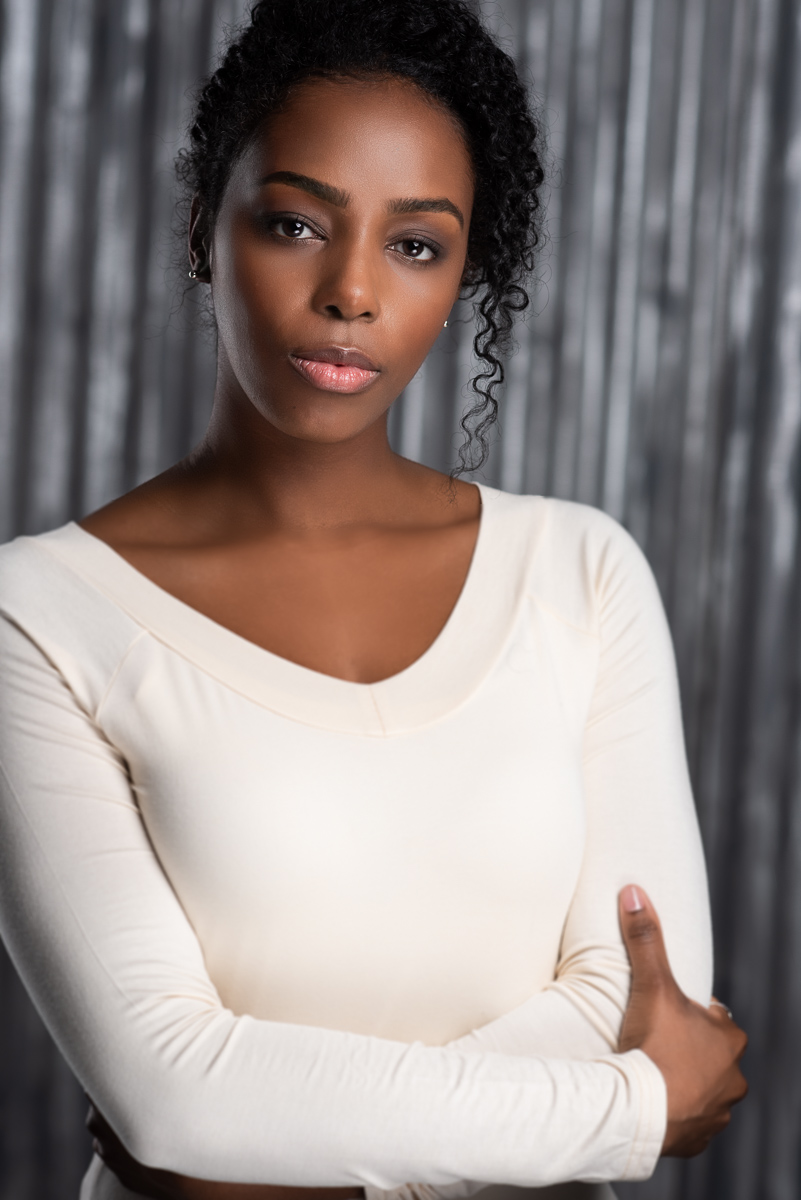White tops can look awesome against dark skin.