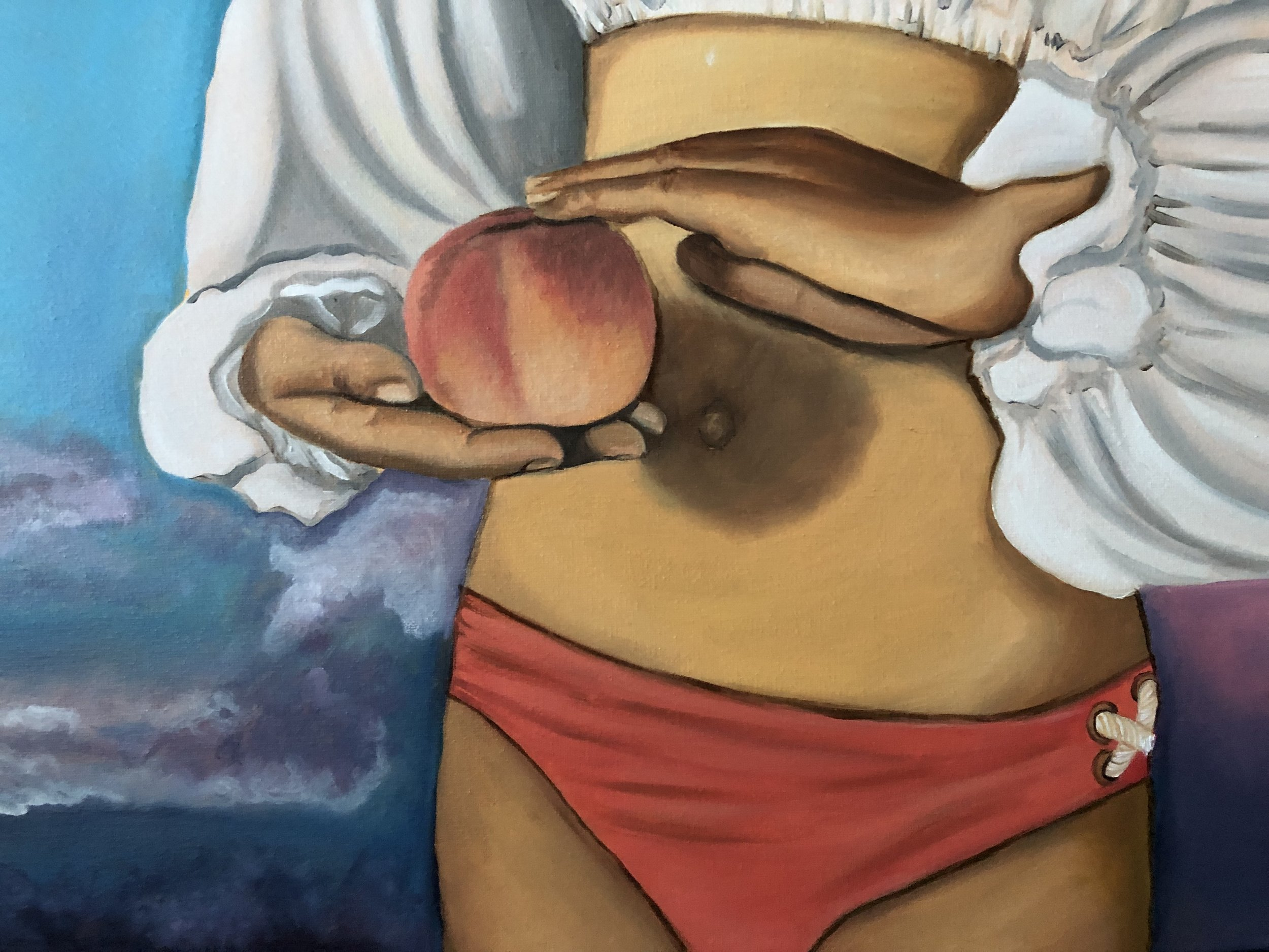 How to eat a peach (detail)