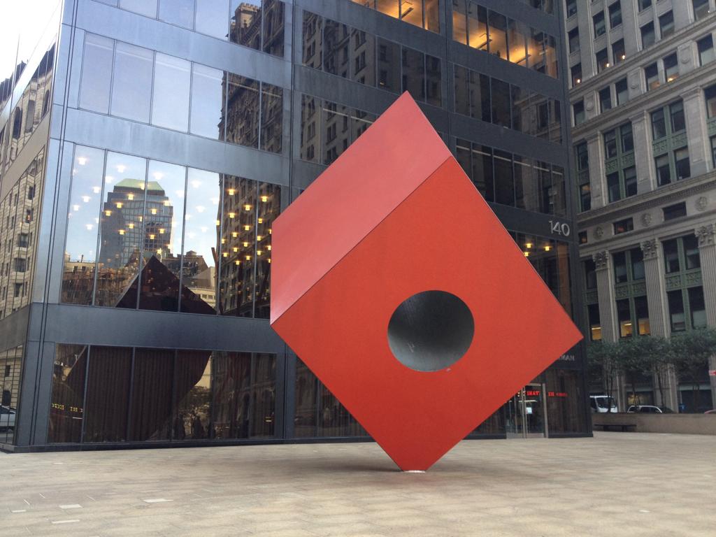 Red Cube by Isamu Noguchi (New York)