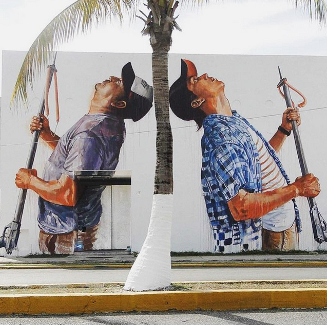 Work by Fintan Magee. Image courtesy of @graffitiartmagazine.