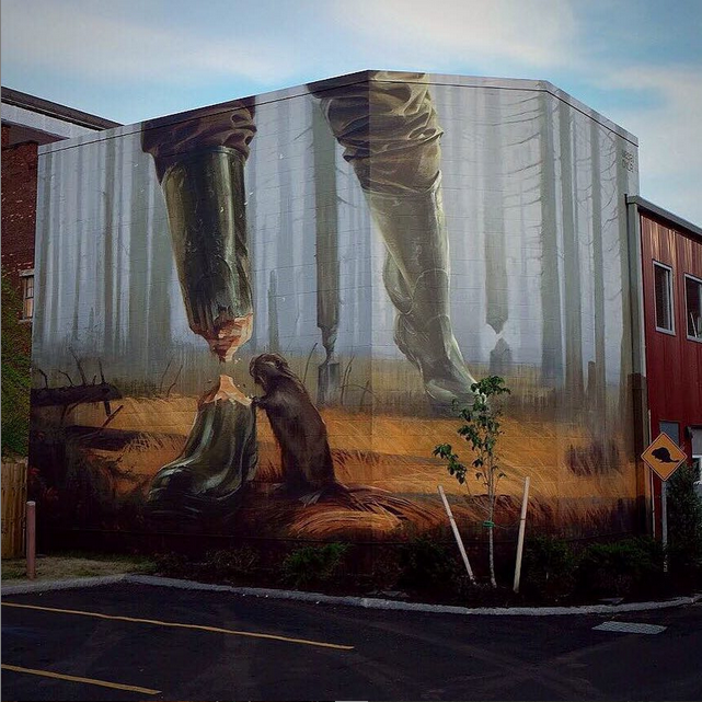 Work by Onur and Wes21. Image courtesy of @walltherapyny.