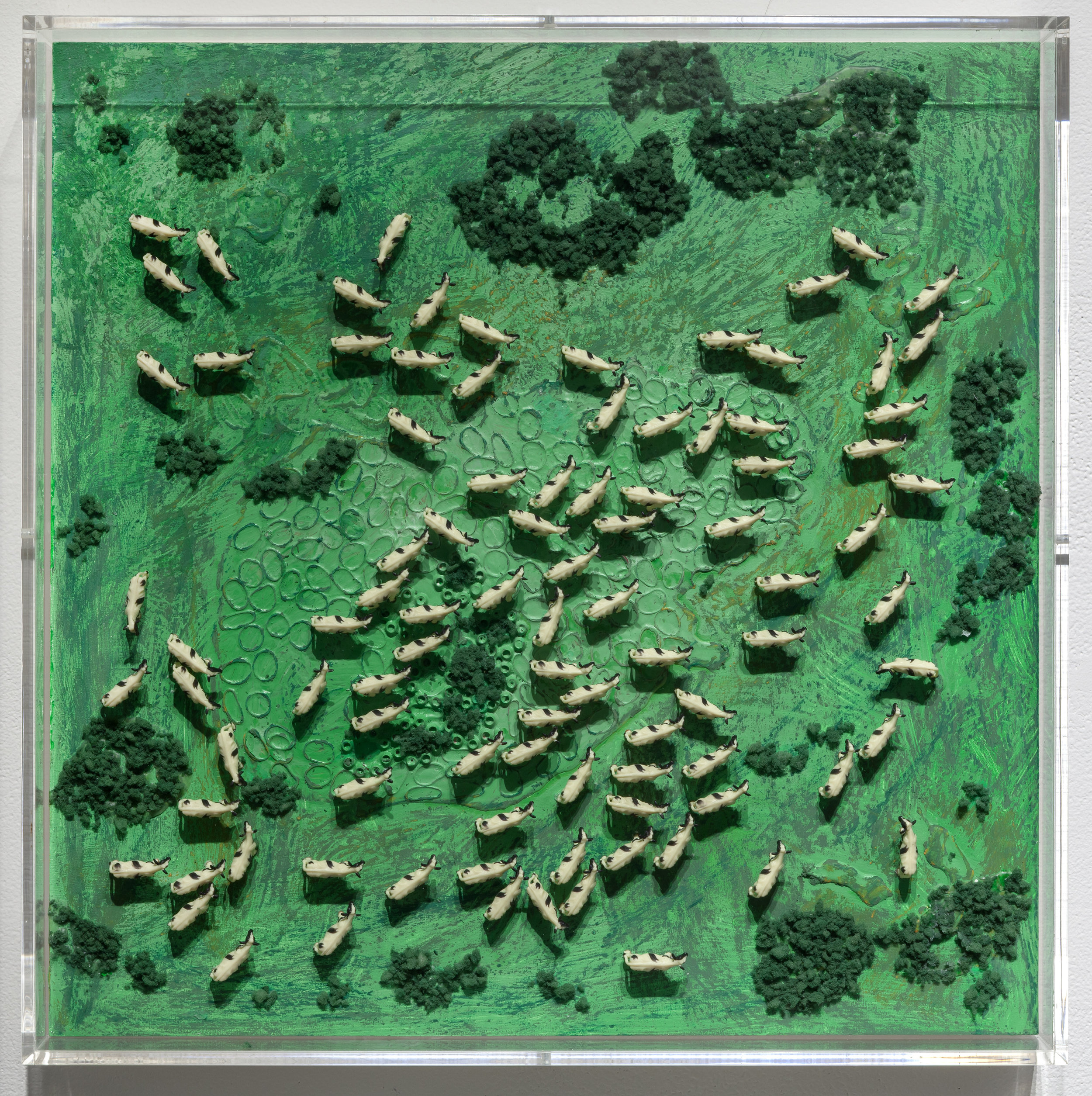 Organized Chaos I, mixed media 18.75 x 18.75 inches, 2016