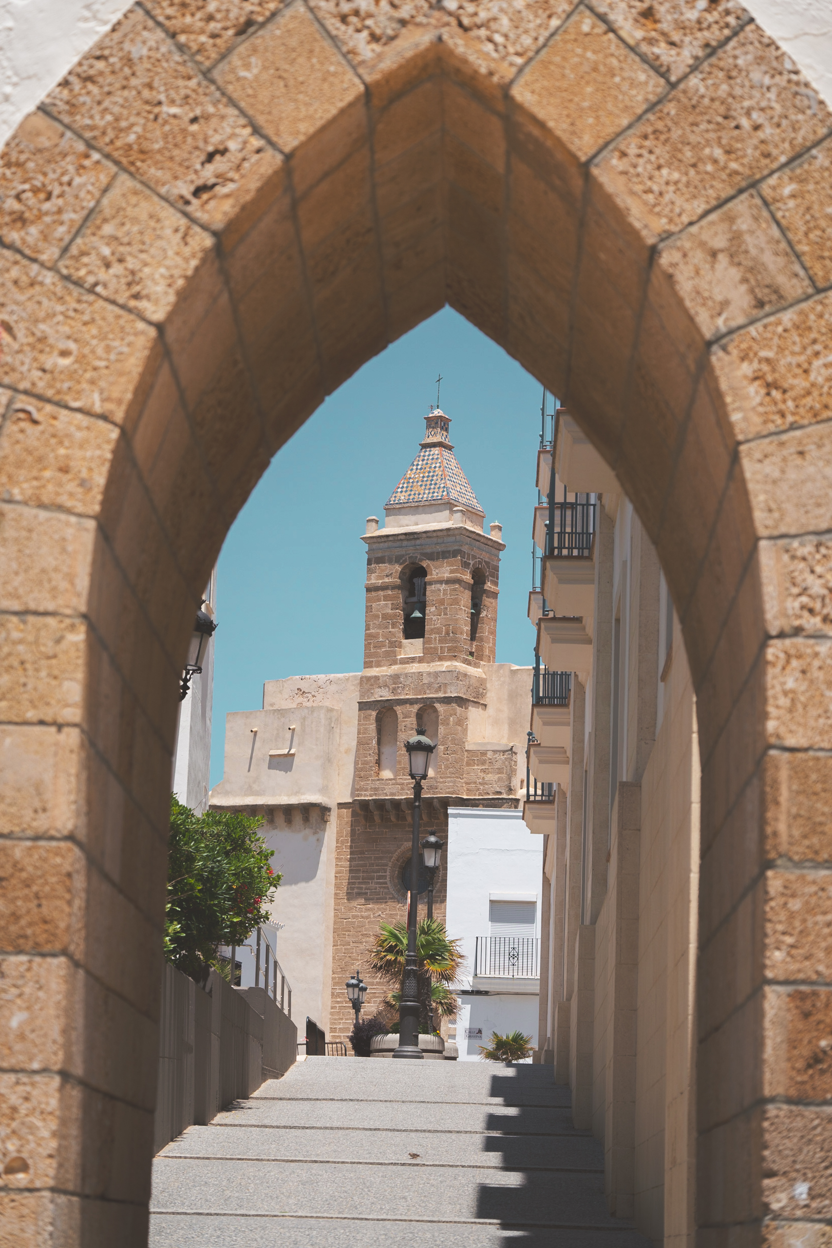 Arch leading into town - Rota, Spain
