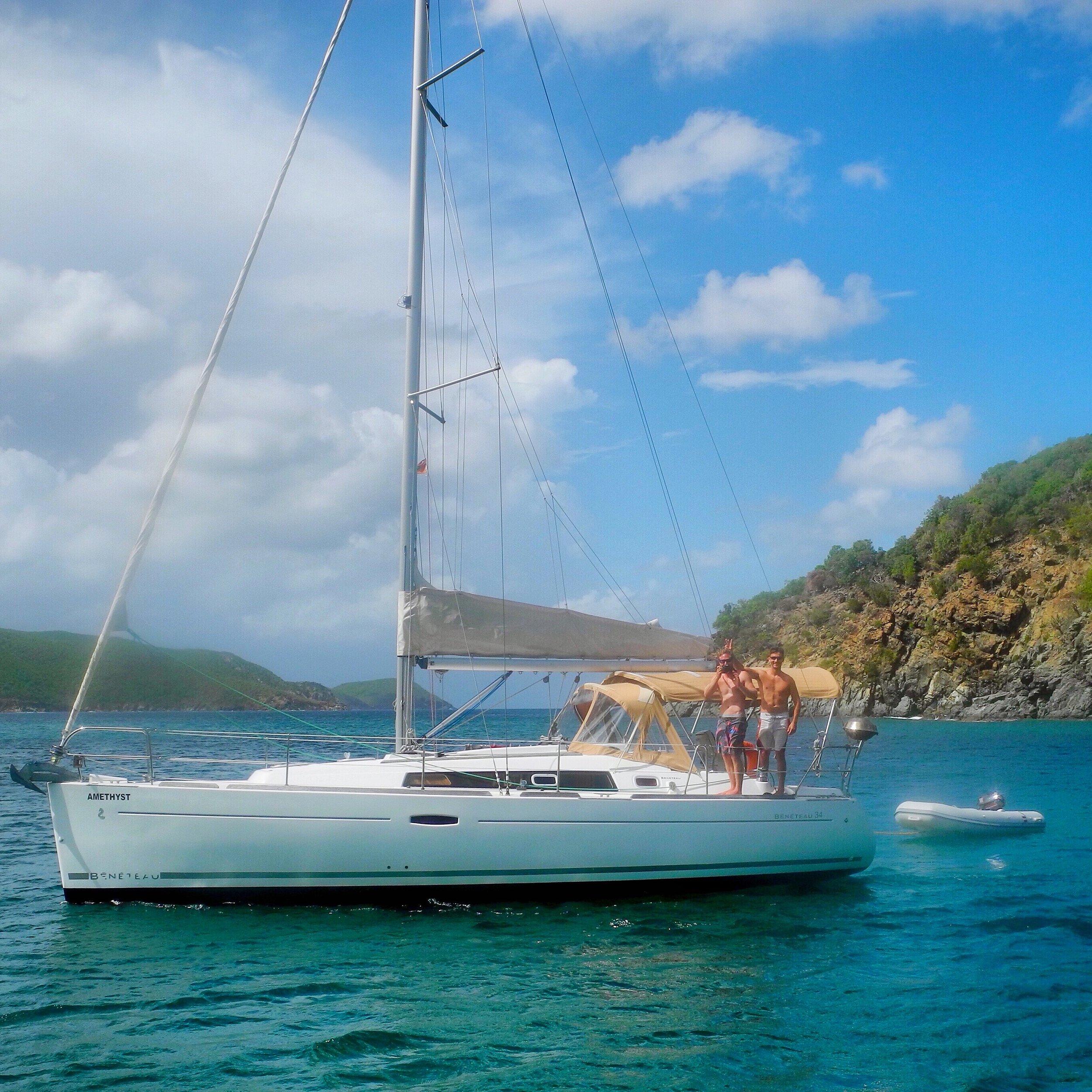 Our boat, a Beneteau 34