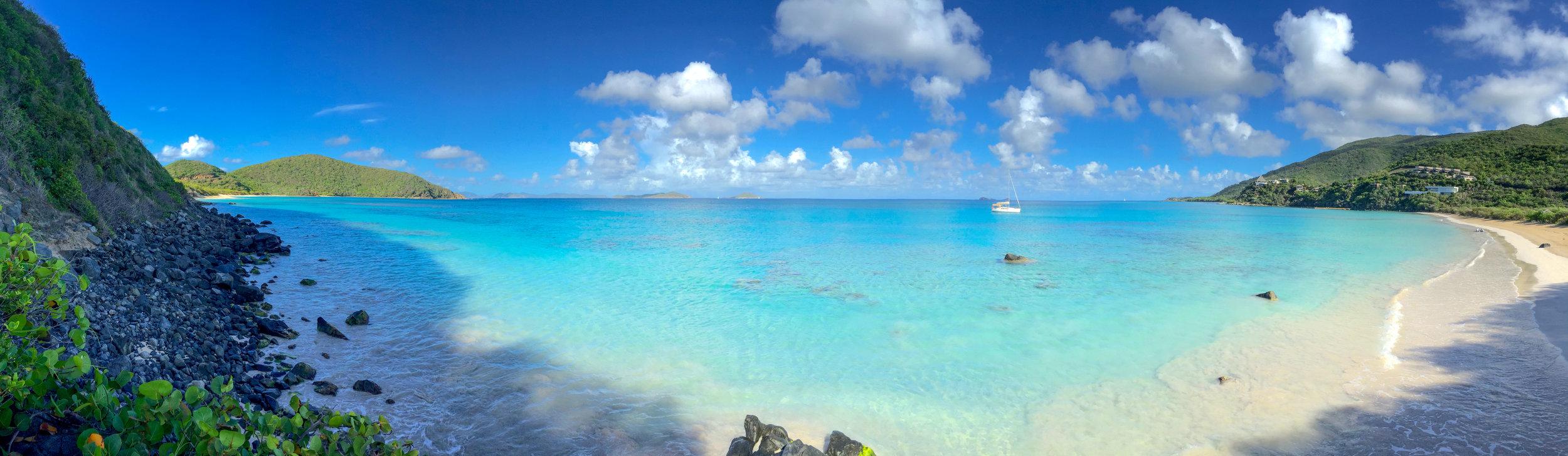 Savannah Bay in the British Virgin Islands