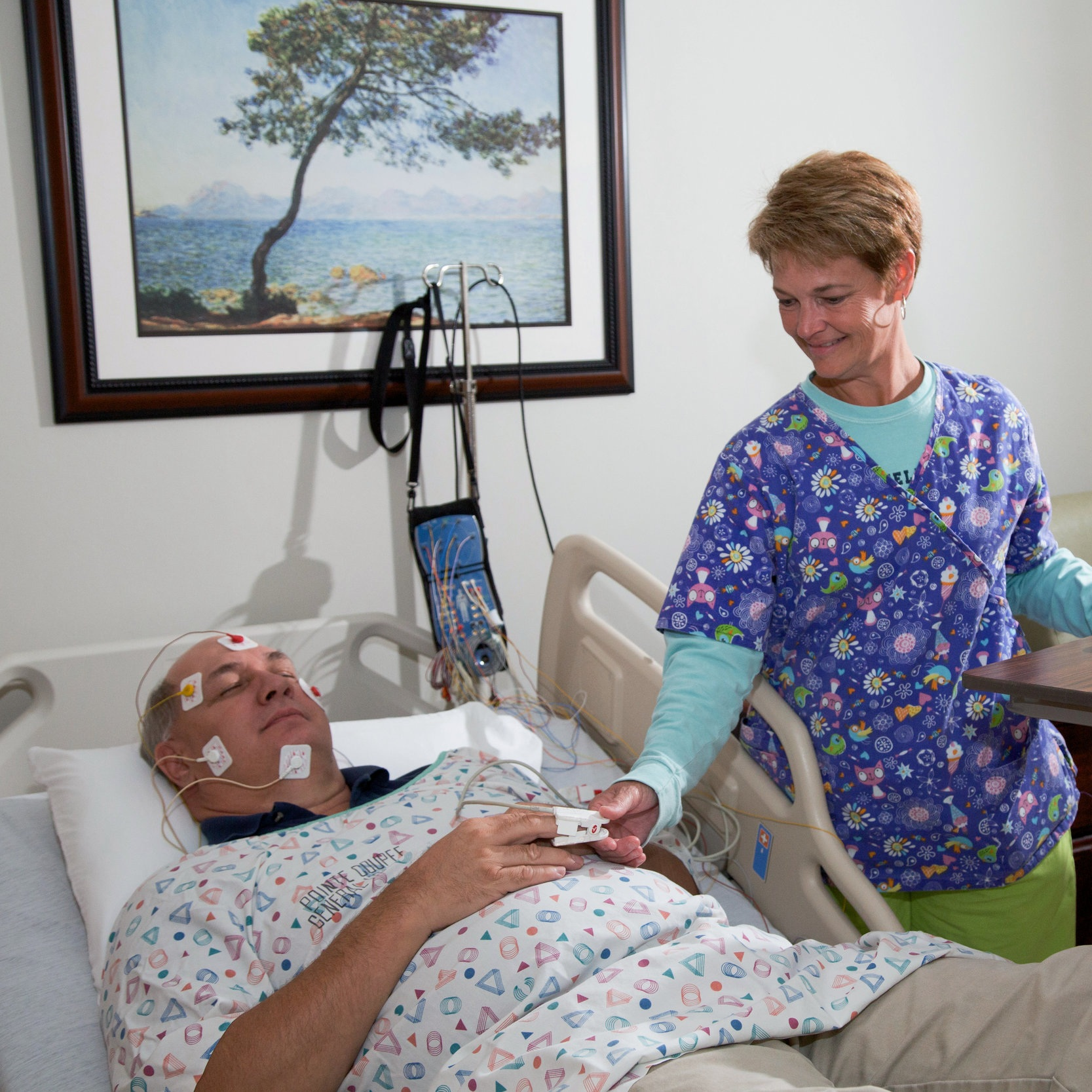 Sleep Disorders Center - Various issues in your airway can cause interruptions in breathing during sleep and can cause snoring, periods of breathlessness, and drowsiness. Our Sleep Disorder Center is equipped with state of the art systems to diagnosis and treat sleep apnea.