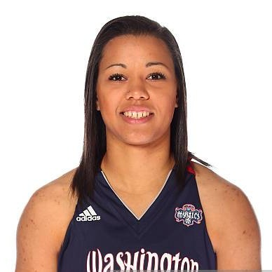 Natasha Cloud  plays as a guard for the Washington Mystics