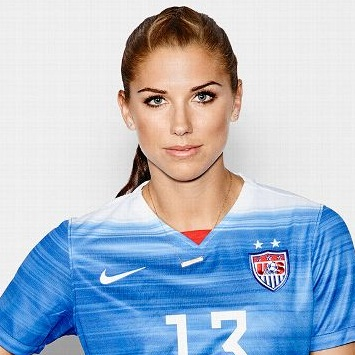 - Alex Morgan plays as a forward for the Orlando Pride.
