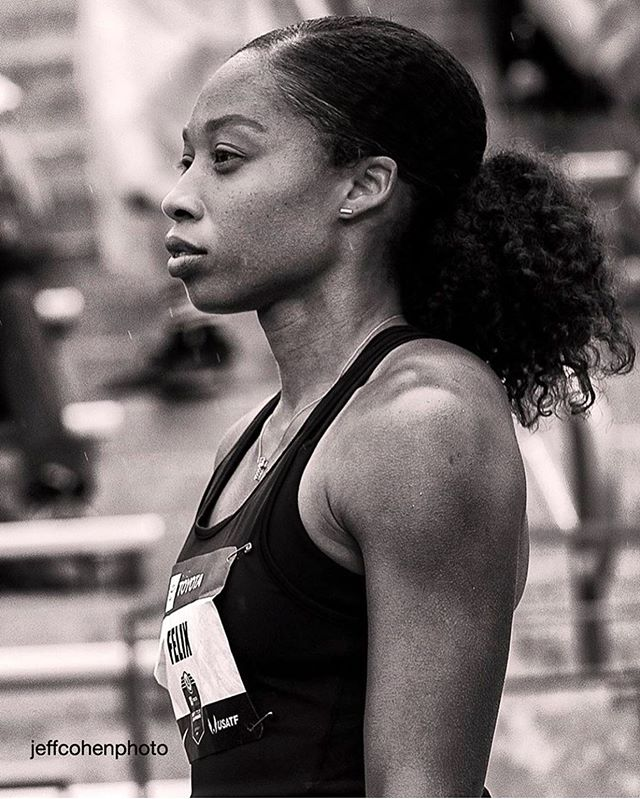 📸 @usatf ~  @af85 Allyson Felix advancing to the UNITED STATES FINALS IN THE 400M  8 months after having her BABY- a huge moment for women in sports, congratulations and GOOD LUCK🙌🏼✨