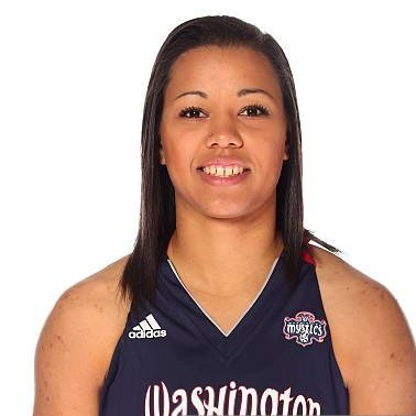 - Natasha Cloud plays as a guard for the Washington Mystics