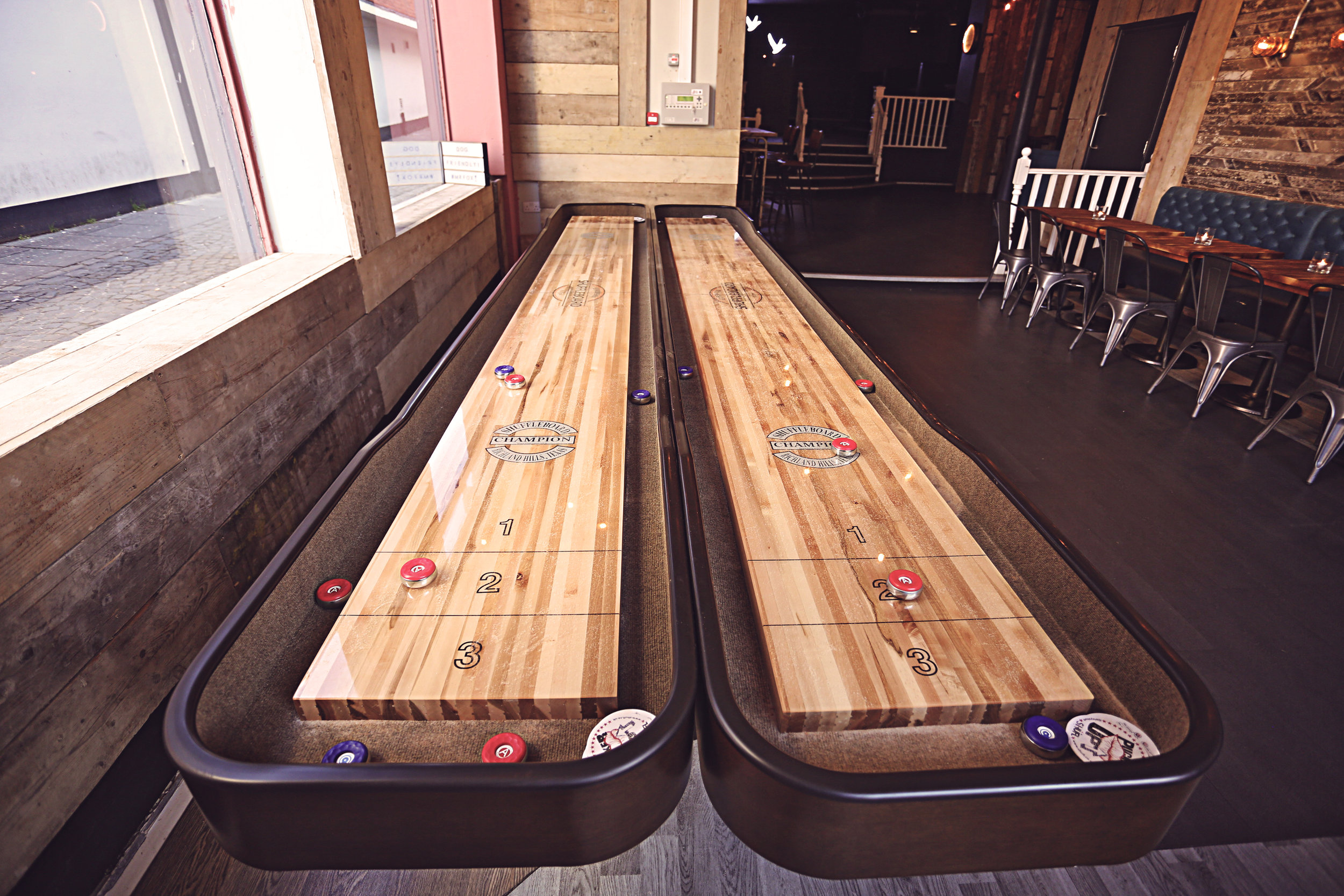 Shuffleboards - Book some times slots for your groups to get their game on!