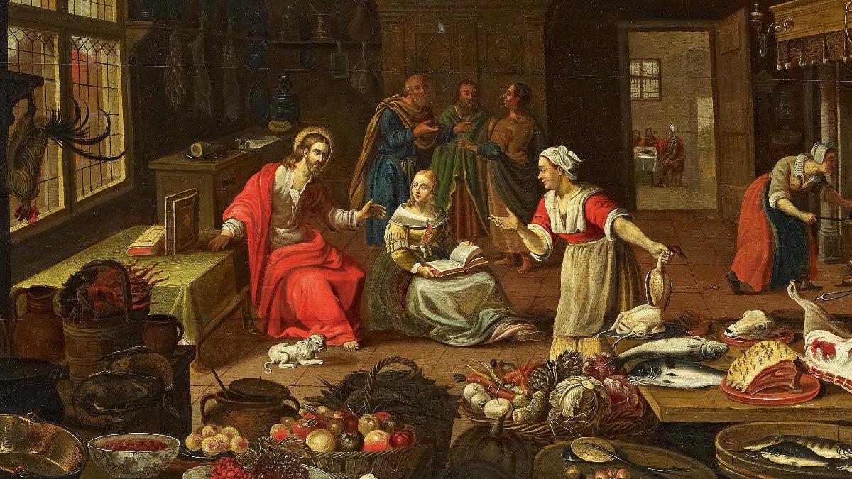 Georg Friedrich Stettner,  Christus im Hause der Martha  (Martha and Mary)