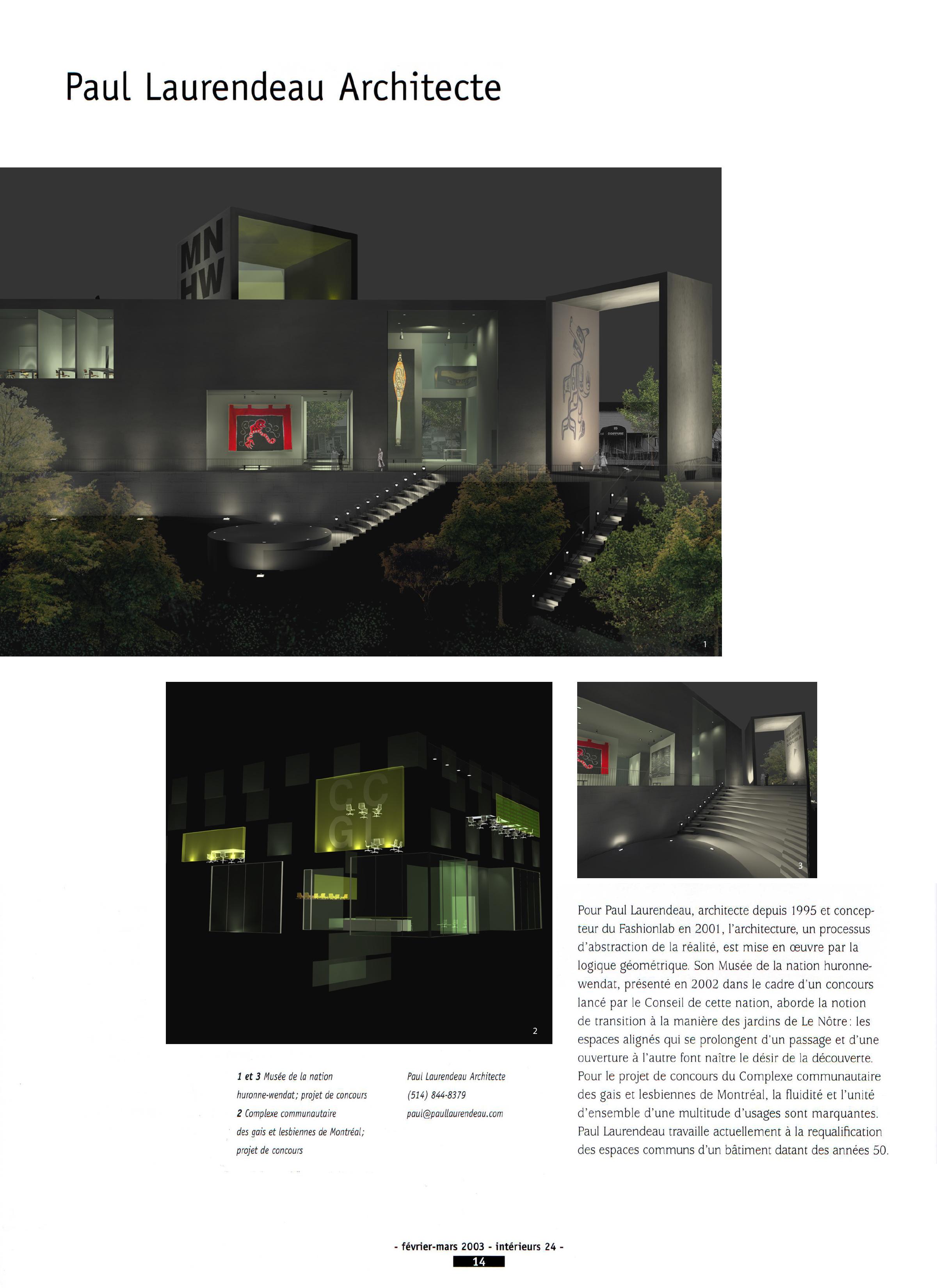 Copy of Paul Laurendeau Architecte