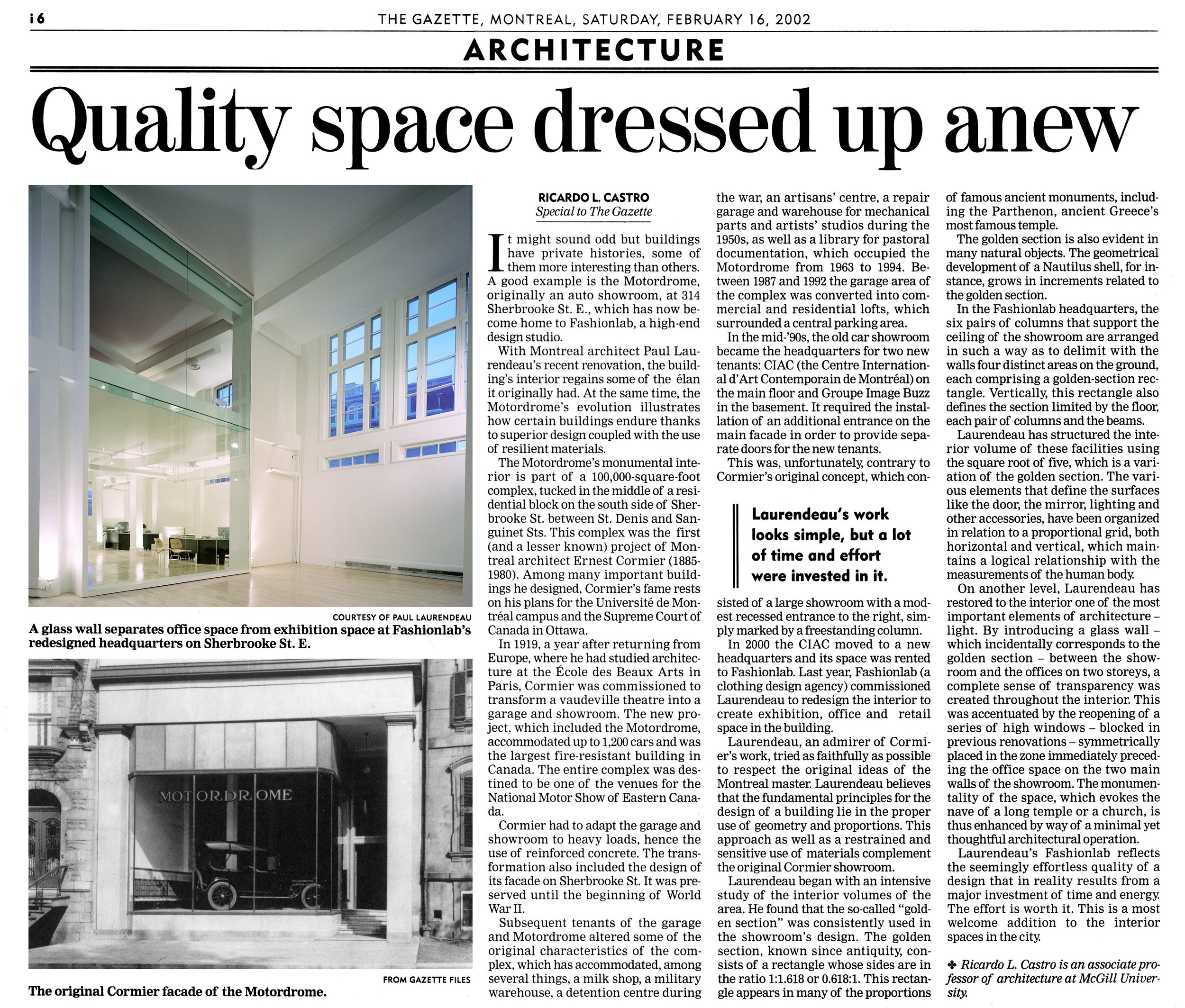 Quality Space Dressed Up Anew