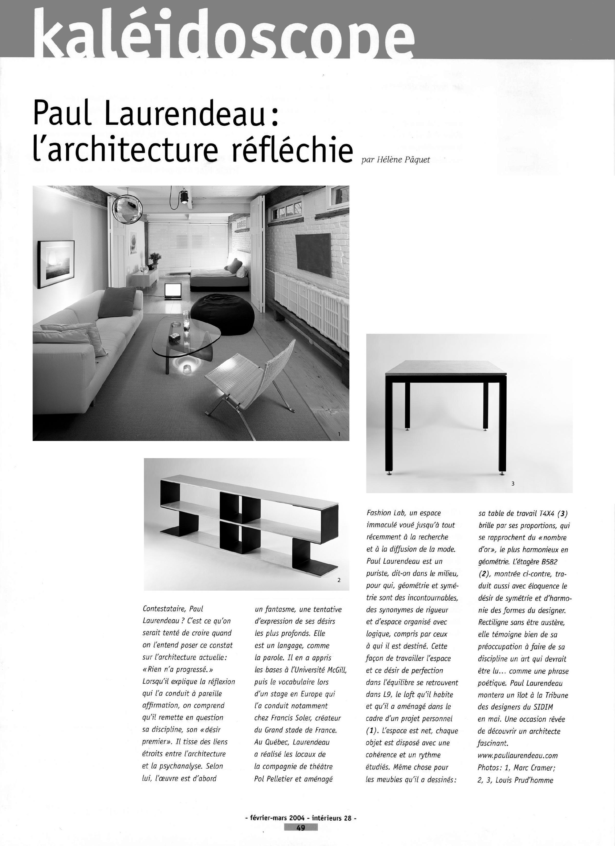 Copy of Paul Laurendeau: l'architecture reflechie