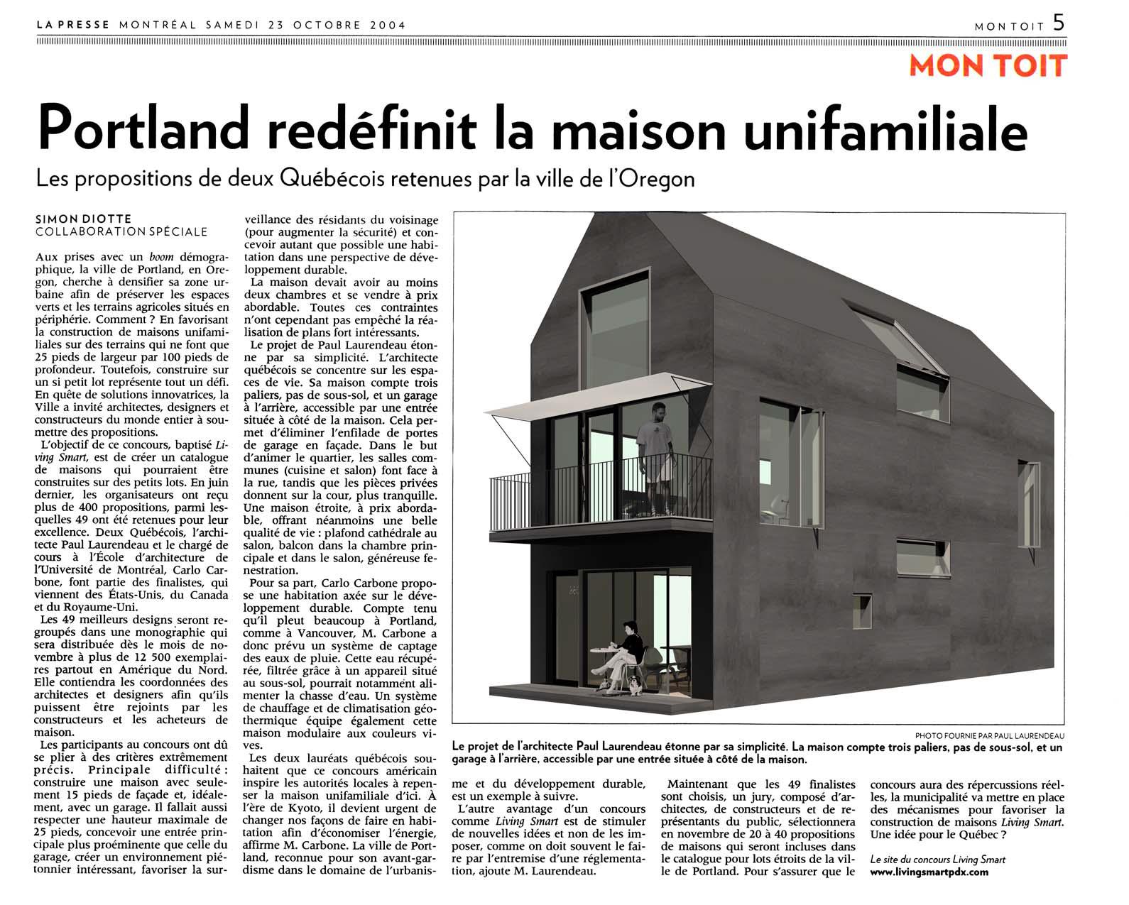 Copy of Portland redefinit la maison unifamiliale