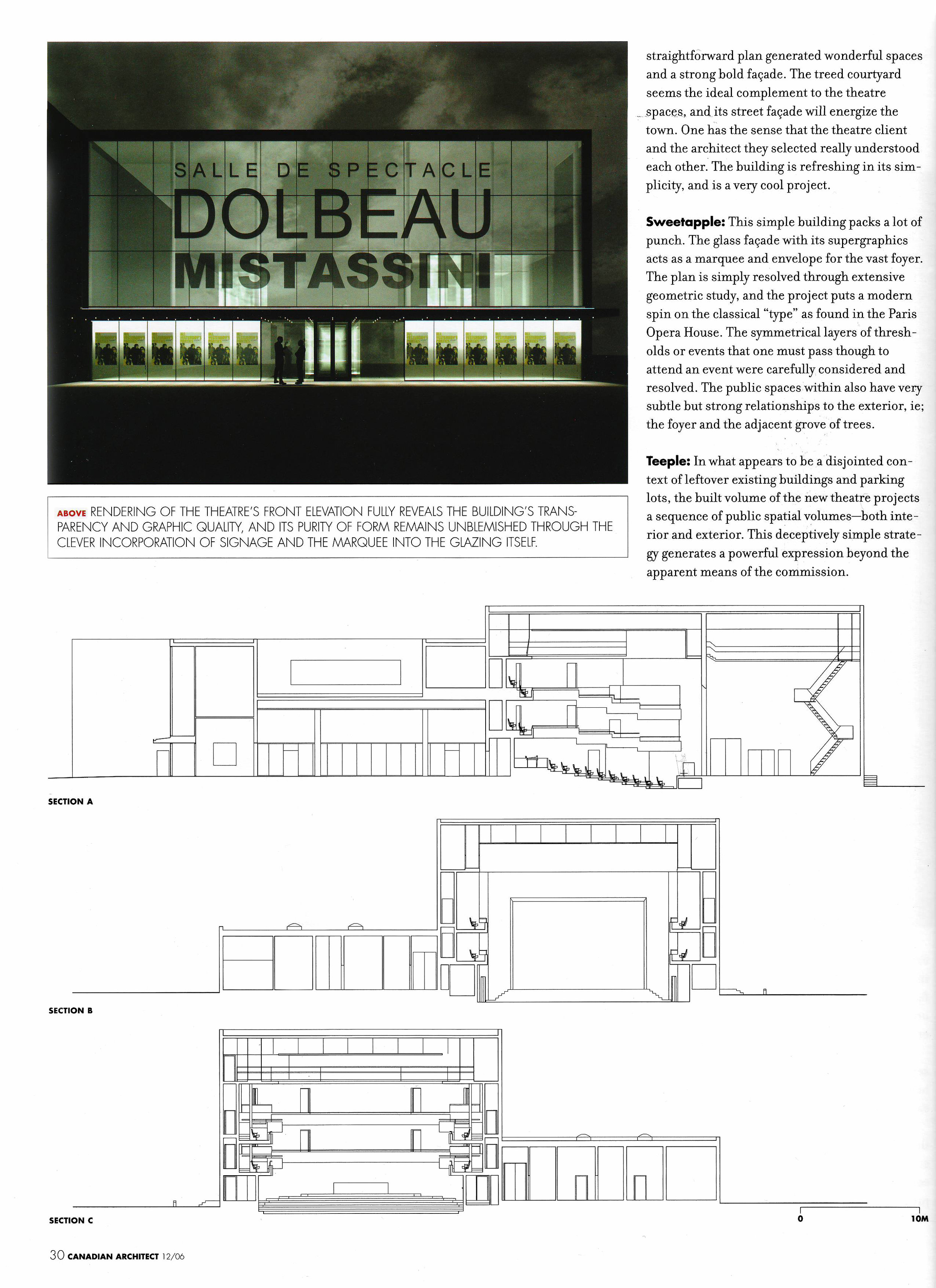 Copy of Award of Excellence: Salle De Spectacle Desjardins