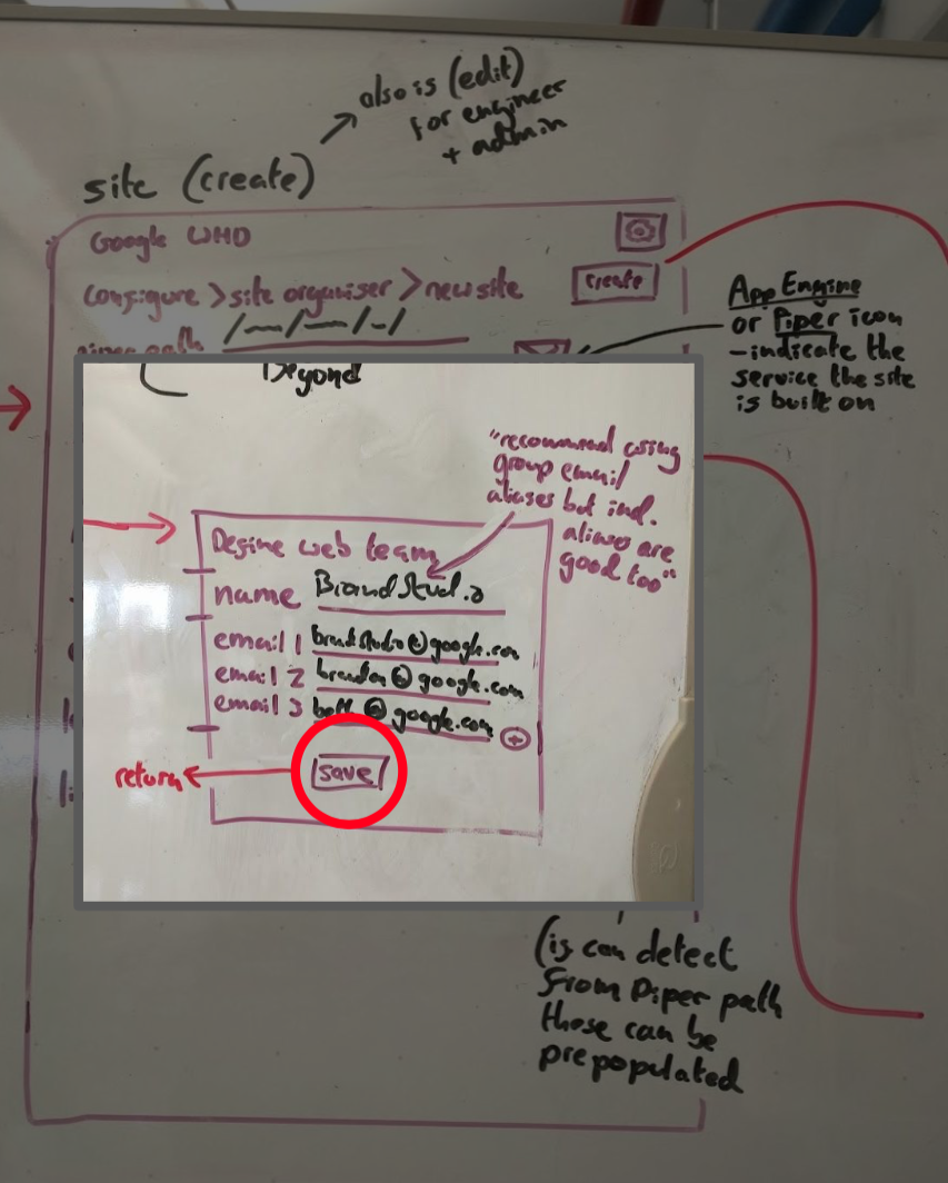 A wireframed InVision prototype used for feedback