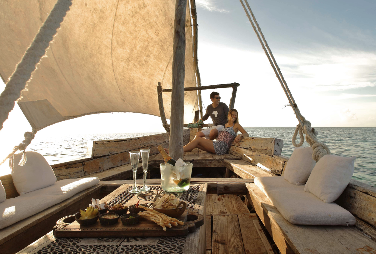 White Sand Beaches in exotic Zanzibar - A trip filled with pristine beaches, thatched-roof cabanas, and barefoot inspired luxury that will have you feeling refreshed no matter how long its been since your last vacation. This is Zanzibar; where turquoise and temperate waters and lush green forests meet for the ultimate beach retreat.