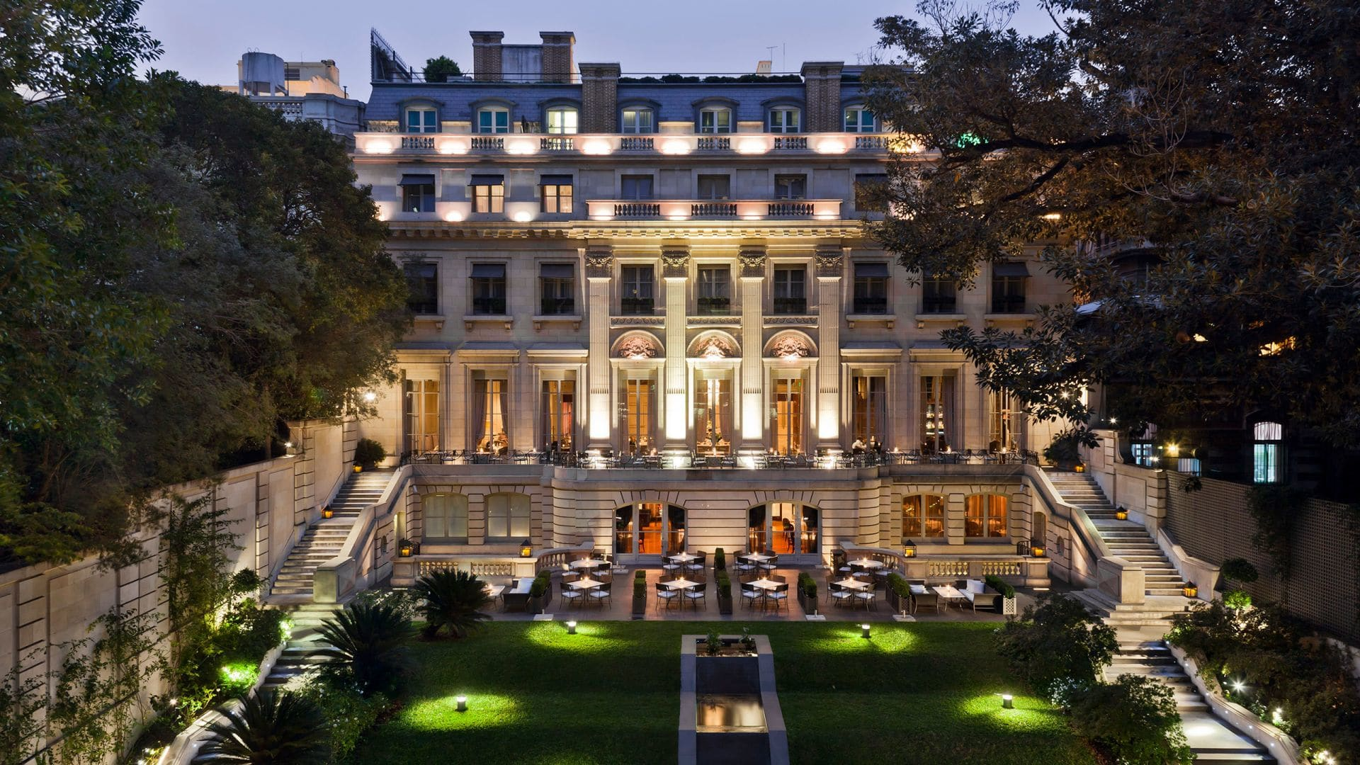 Park Hyatt Buenos Aires  sits amid the stunning French heritage area of Recoleta. Unveil uncommon experiences within a harmonious architecture combination of the restored Neoclassical Palace and the Posadas contemporary building. The complex is connected by an eclectic underground art gallery and a secluded garden with breath-taking terraces where one can delight in haute-cuisine. The grandeur of the hotel interiors with lavish décor and the exceptional personal service offer an enriching atmosphere in the heart of Buenos Aires.