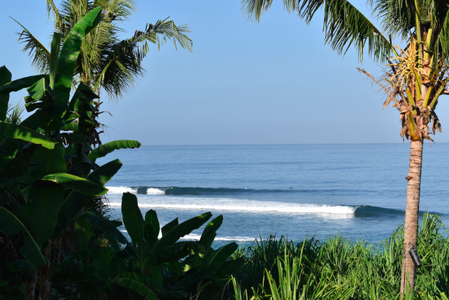 Enjoy the perfect waves that break directly out the front of the resort