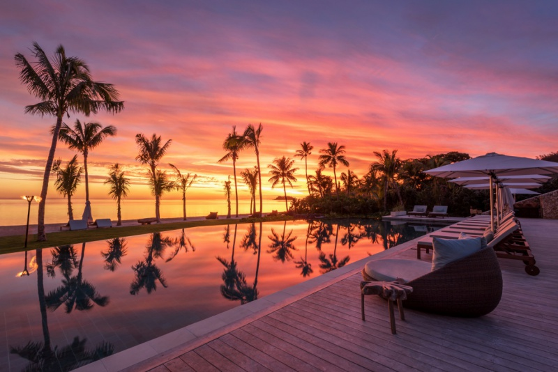 pp/night from USD $440   Six Senses Fiji  is located on the tropical Malolo Island. The resort offers the selection of 24 spacious private pool villas plus the more luxurious options of residences boasting two to five bedrooms. The island is surrounded by world-class waves such Cloud Break and Restaurants as-well as . . .