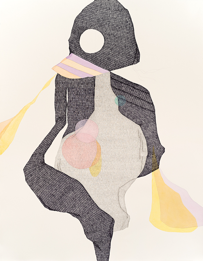 Whirling Dervish    2016  Pen, graphite, watercolour and gouache on Hahnemühle paper  108 x 79 cm