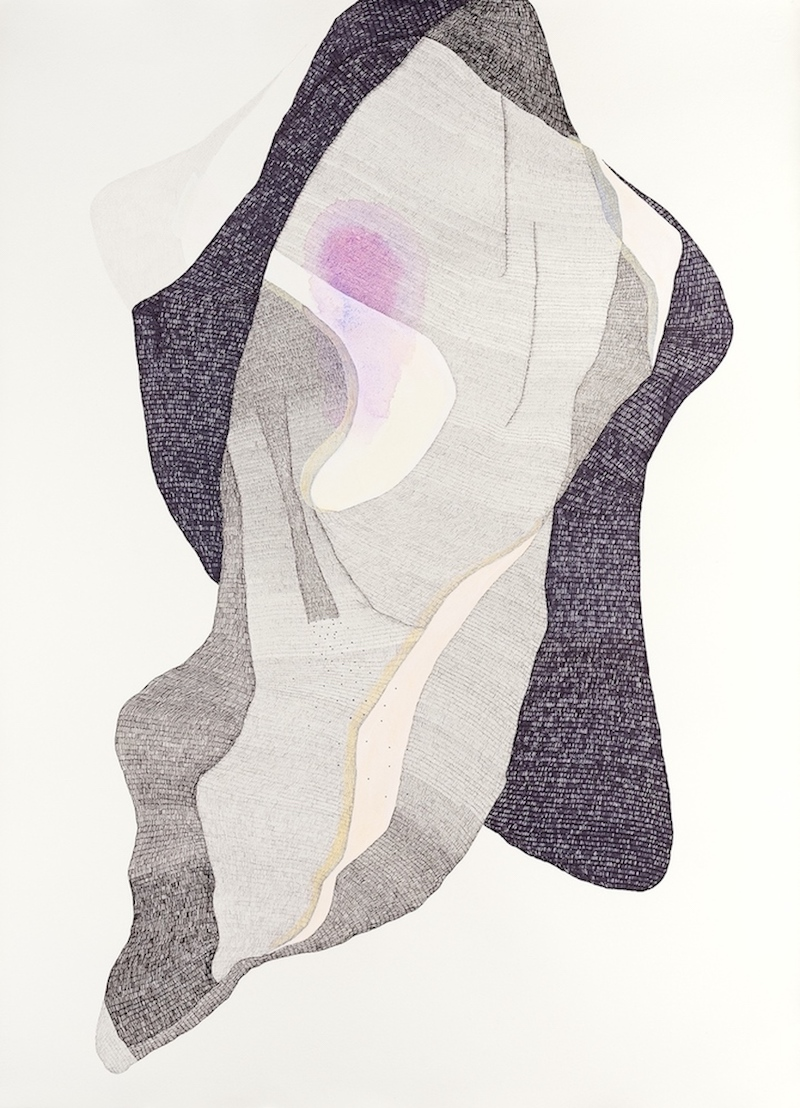 Spirited    2014  Pen, graphite, watercolour and gouache on Hahnemuhle paper  108 x 79 cm