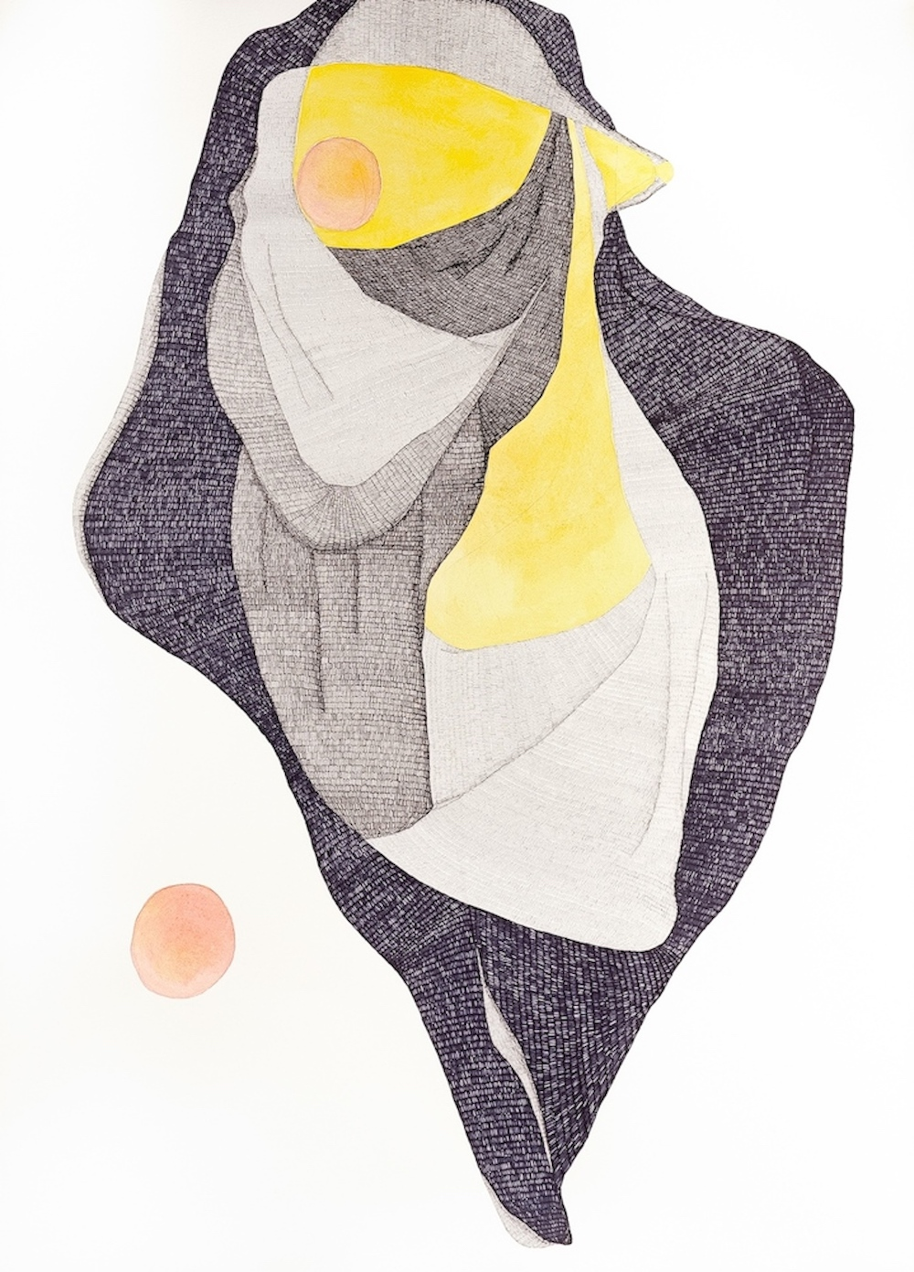 Troubador     2014   Pen, graphite, watercolour and gouache on Hahnemuhle paper  108 x 79 cm