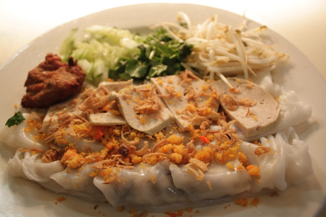 Grandma's Bánh cuỐn - She's catered thousands of pounds of bánh cuốn to the community since coming to America over thirty years ago. The smell of fresh rice rolls being poured and steamed are part of our family's identity. Sharing bánh cuốn at Hanoi Kitchen is what we do to make you feel at home.