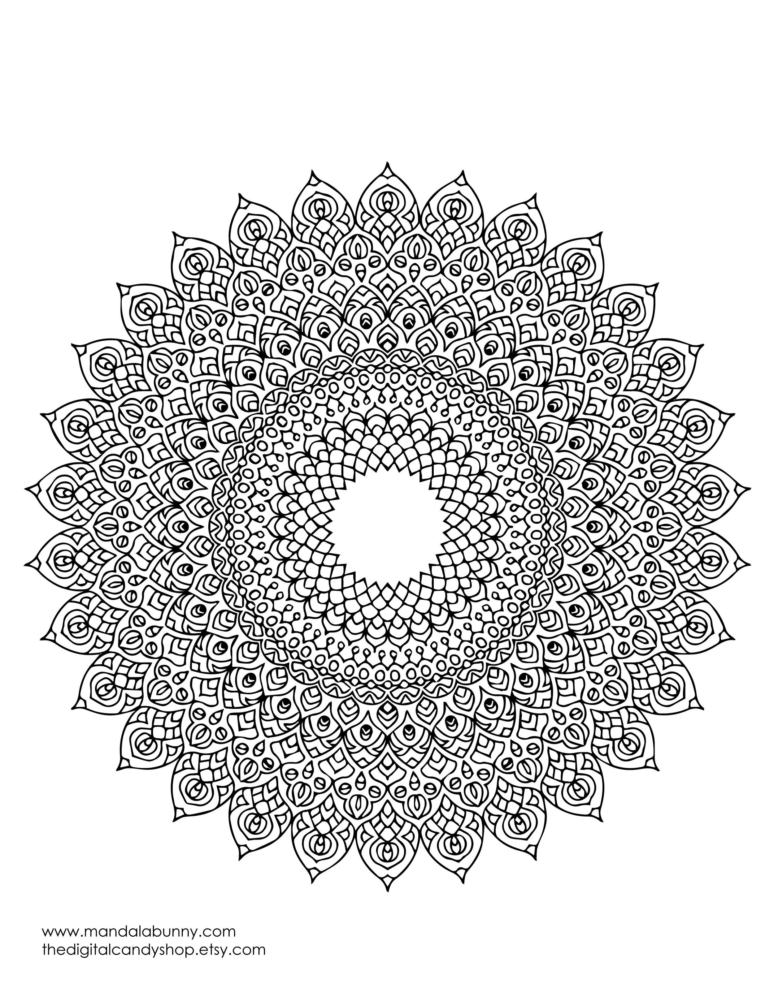 "Mandala coloring page, right click ""save image as…"" to save and print!"
