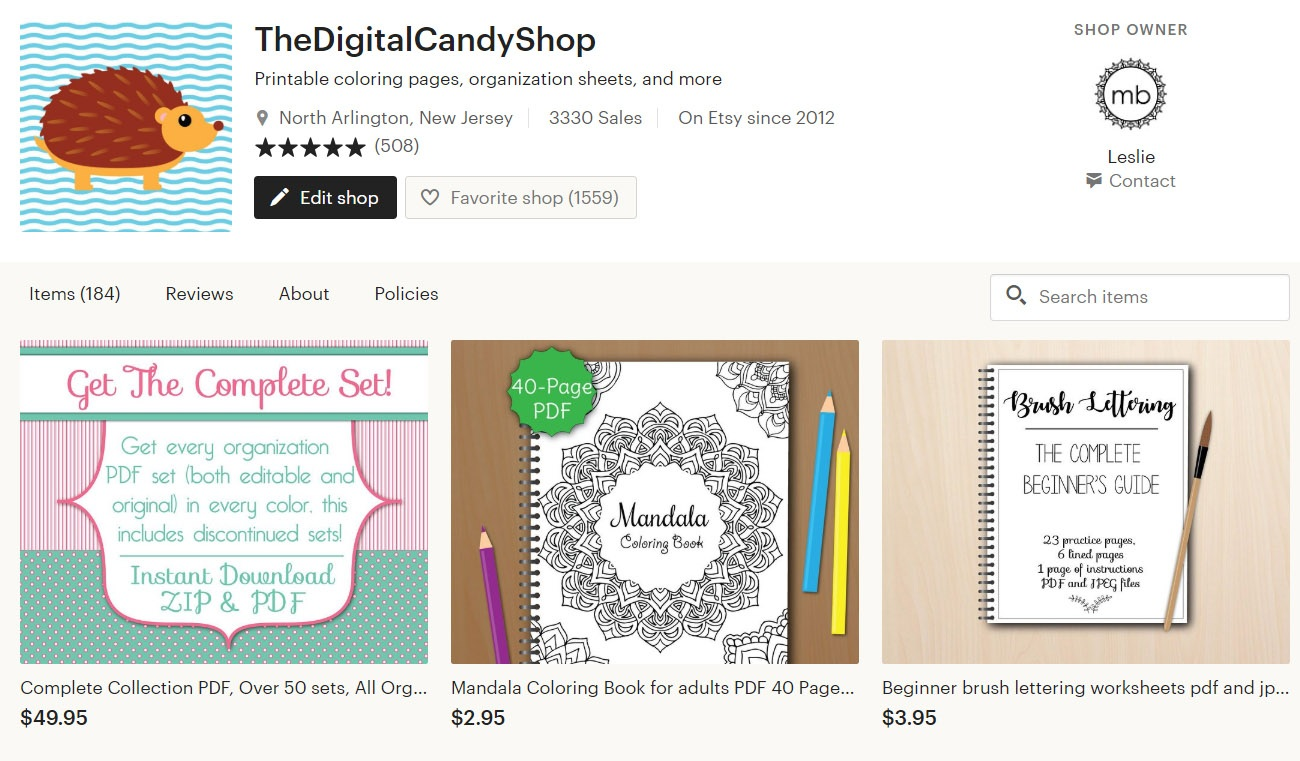 The Digital Candy Shop on Etsy