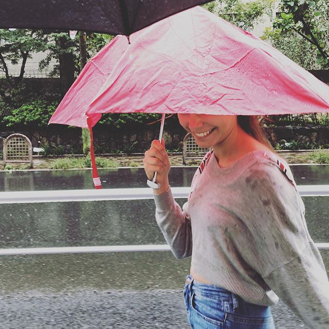 Then, she smiles. All is forgiven.  #teenager #battle #rainyseason #tokyolife #tokyoteen #blendin #waterproof #annaseifertphotography