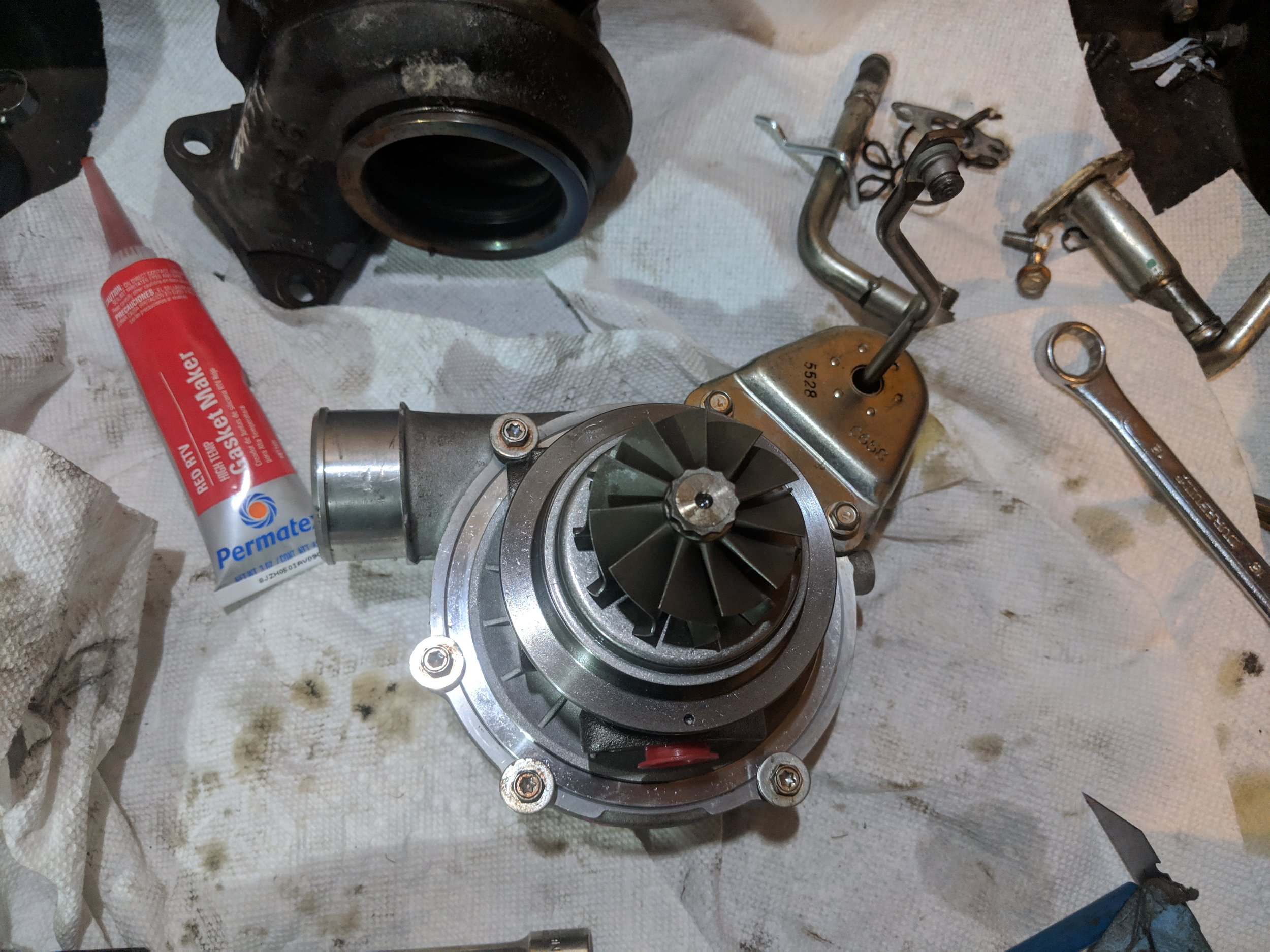 If you need to replace the CHRA of your VF turbo that is quite easy to diy!