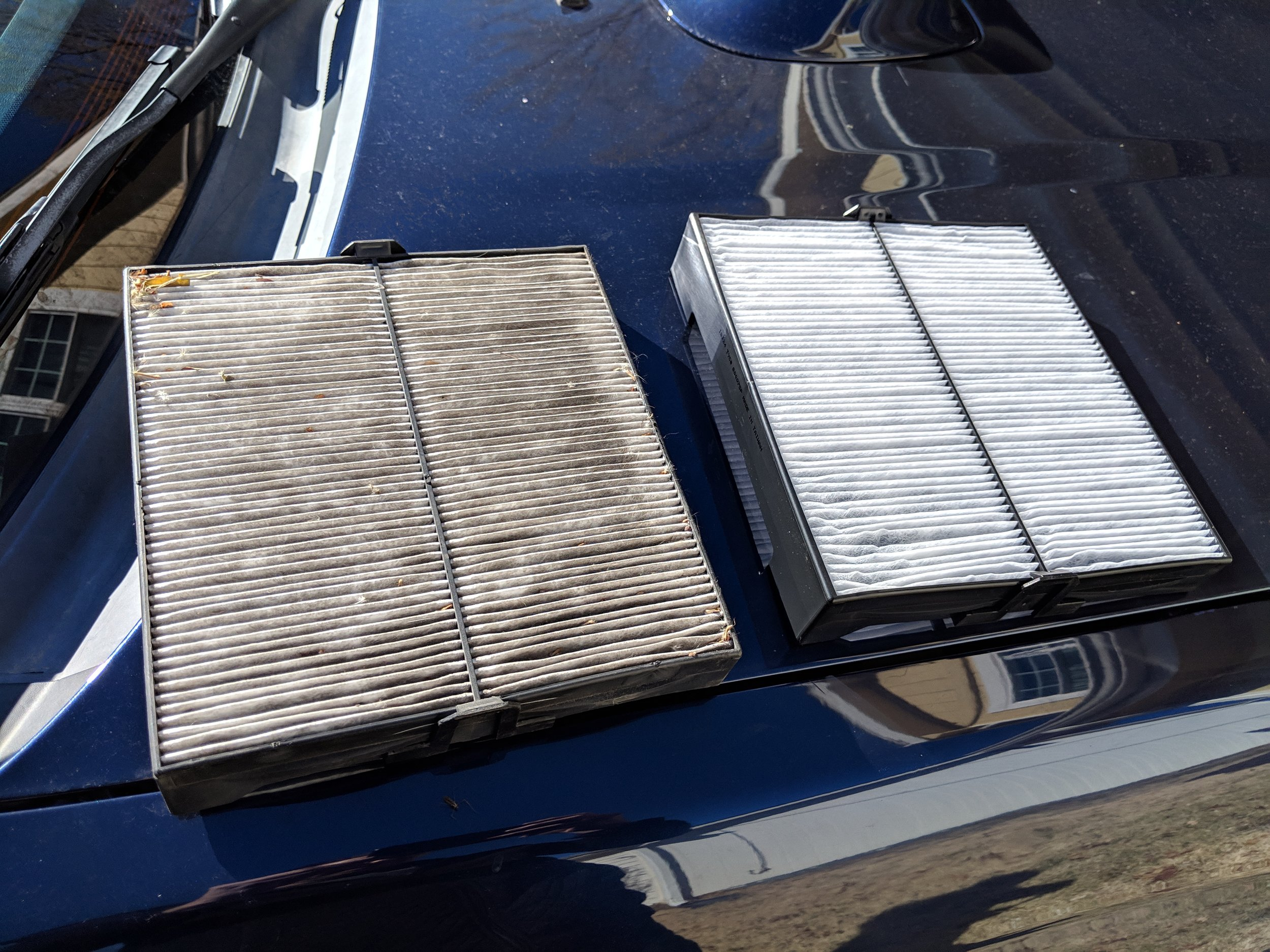Today's replacement wasn't as bad. Your replacement time frame should be 30k miles or 2 years, whichever comes first. Mine is over 3 years old.  TYC Forester cabin air filter