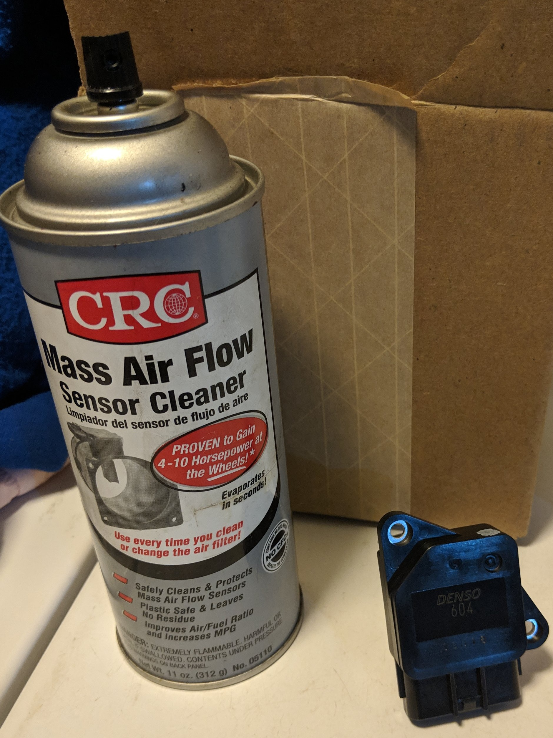 Friends till the end!   CRC MAF air flow cleaner    Denso sensor